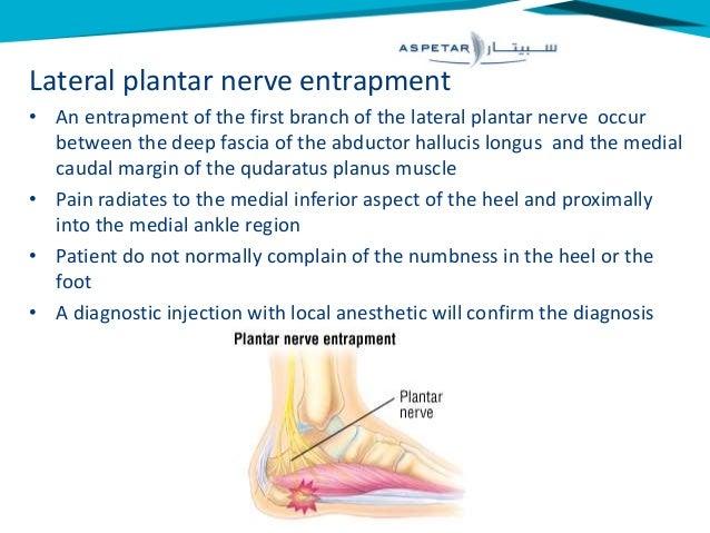 medial plantar nerve entrapment foot problems manual
