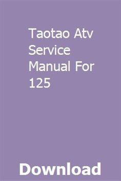 taotao ata110 b service manual