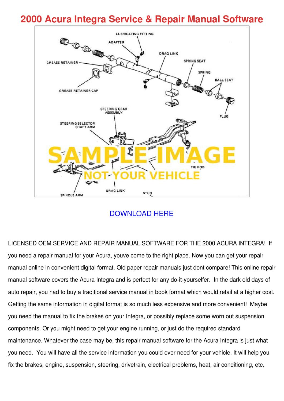 acura integra service manual pdf