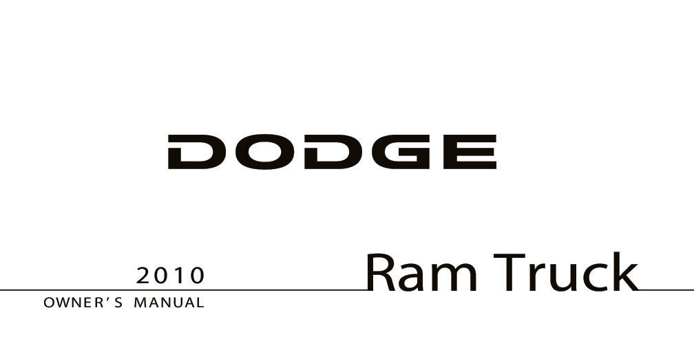 2010 dodge ram 1500 owners manual pdf