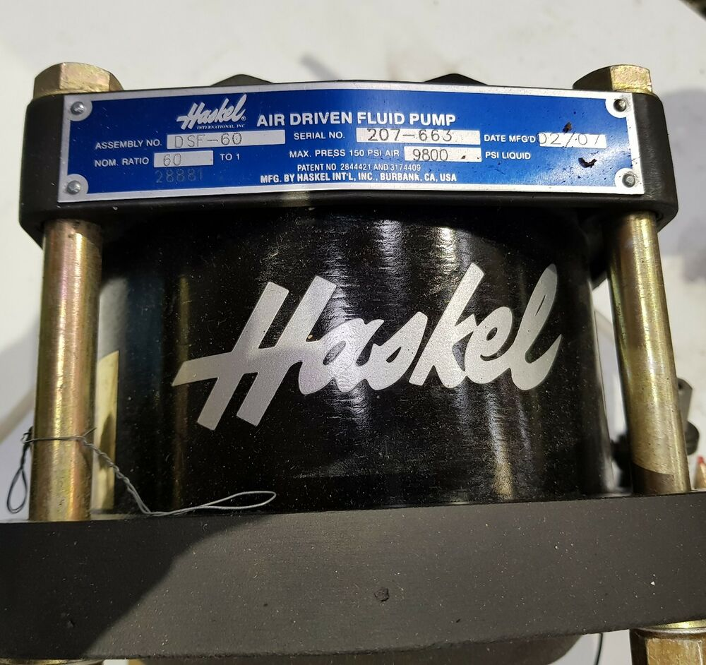 haskel air driven fluid pump manual