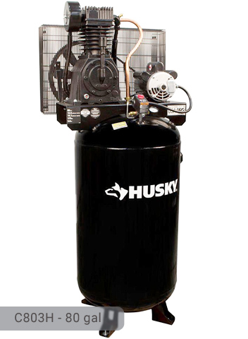 husky 80 gallon air compressor manual