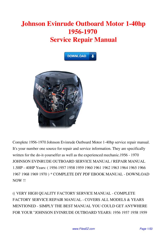 repair manual for evinrude outboard motor