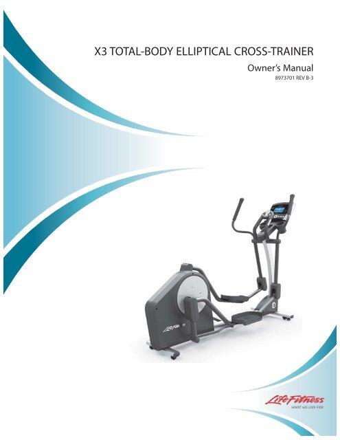 life fitness x3 elliptical manual