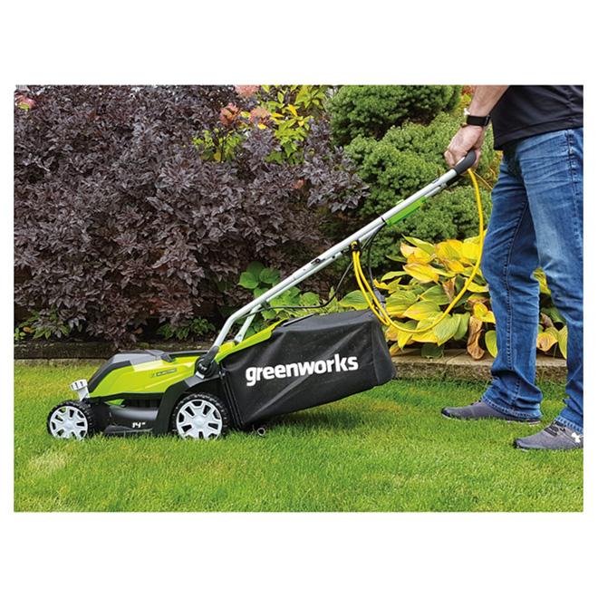 greenworks electric lawn mower manual