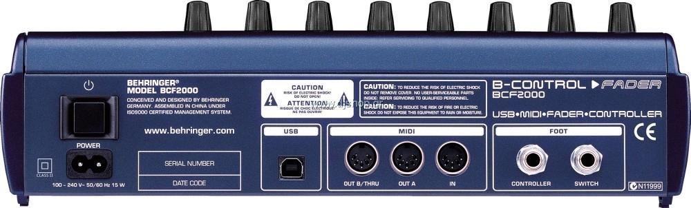 behringer b control fader bcf2000 manual