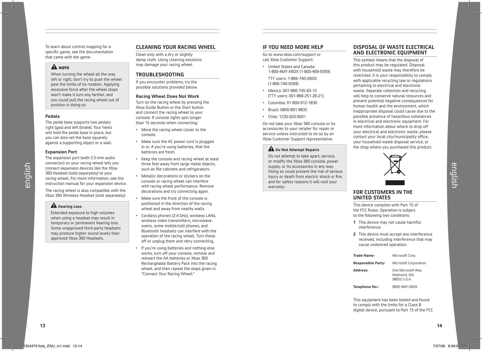 xbox 360 wireless racing wheel with force feedback manual