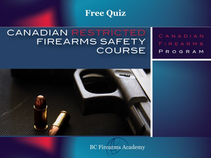 canadian restricted firearms safety course manual download