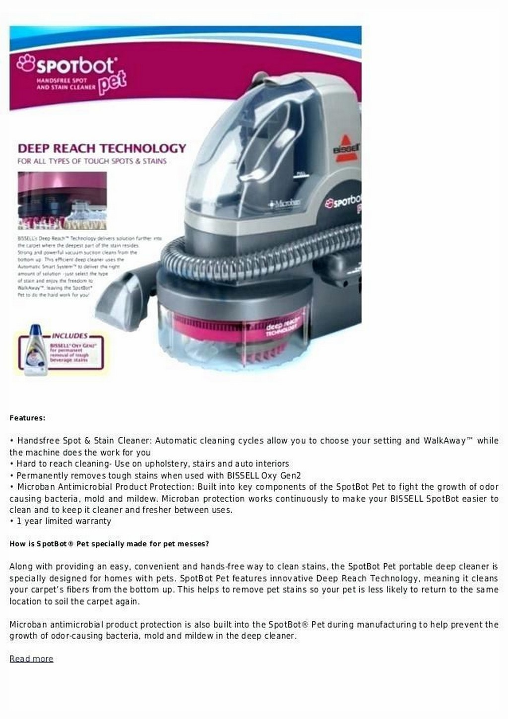 bissell deep clean premier pet instruction manual