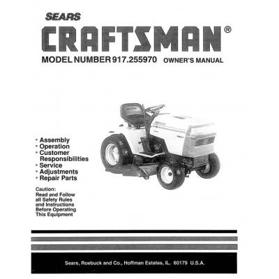 sears craftsman garden tractor manual