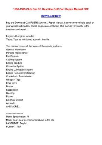 club car ds service manual pdf