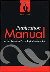 publication manual of the american psychological association amazon