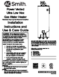 state premier power vent water heater manual