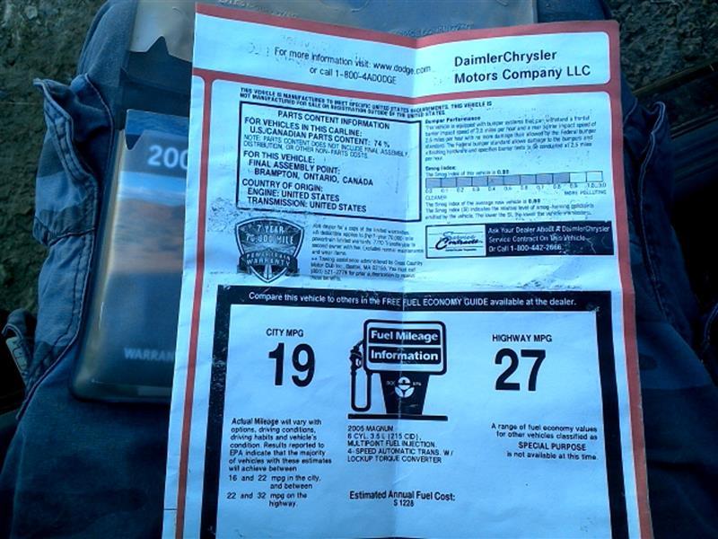 2006 dodge magnum service manual