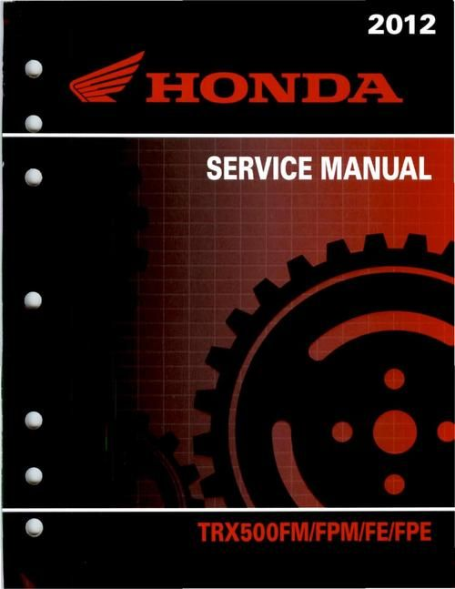 honda trx 450 es service manual