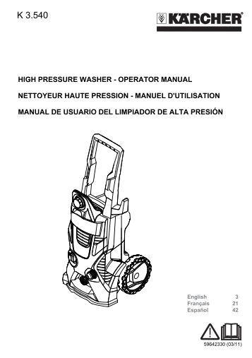 shark pressure washer parts manual