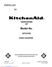 kitchenaid manual food chopper cleaning instructions