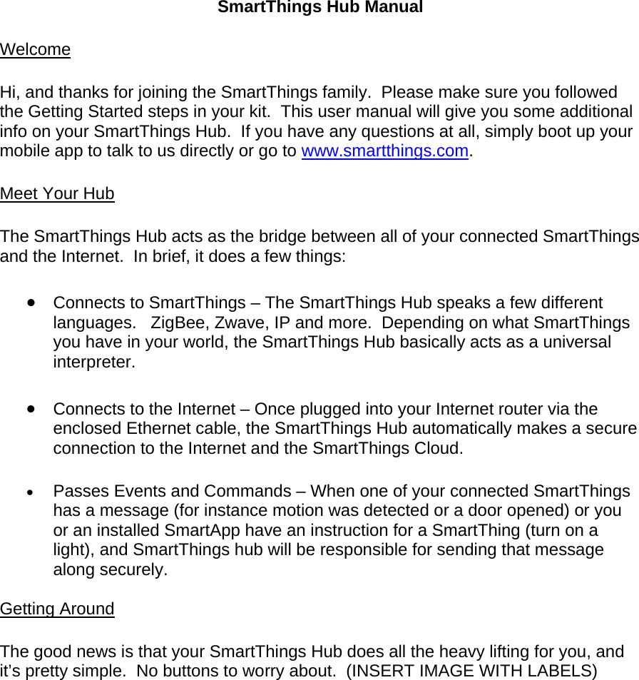 samsung smartthings hub manual pdf