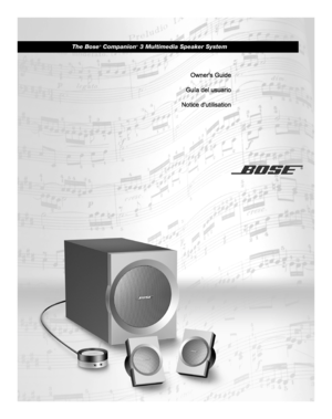 bose companion 3 multimedia speaker system manual