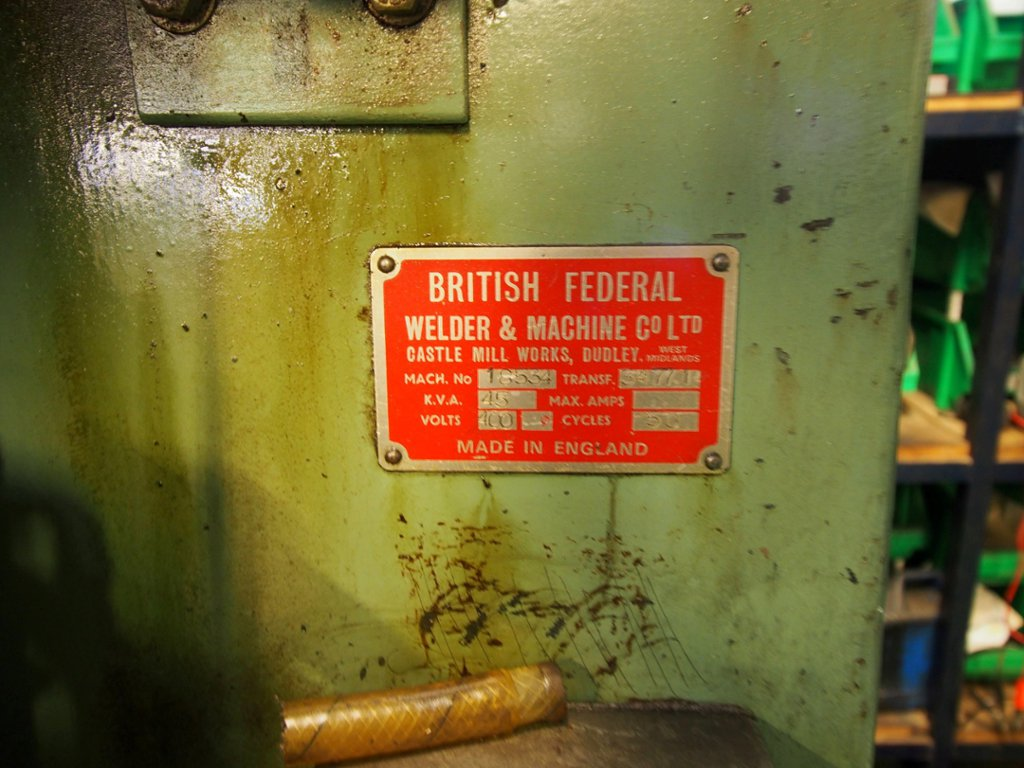 british federal spot welder manual