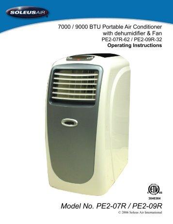 honeywell portable air conditioner manual