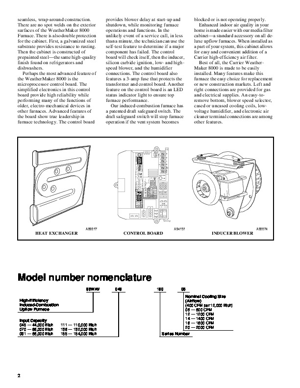 carrier weathermaker 8000 service manual