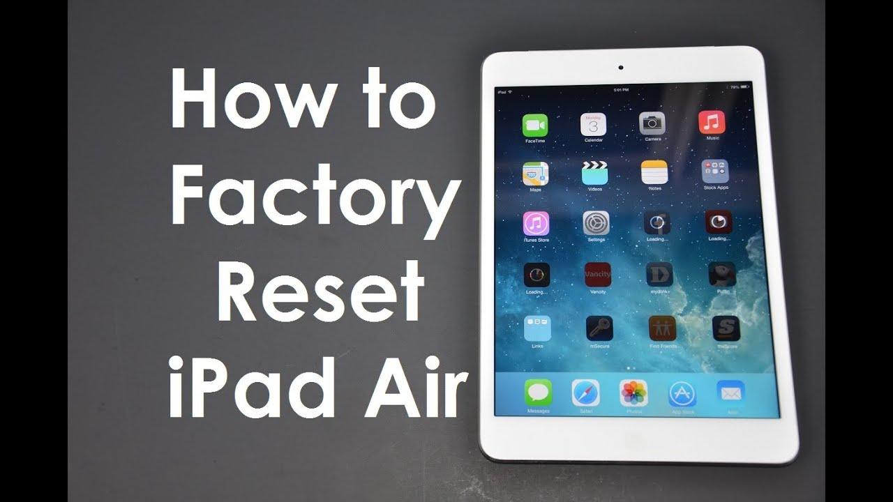 how to manually reset ipad