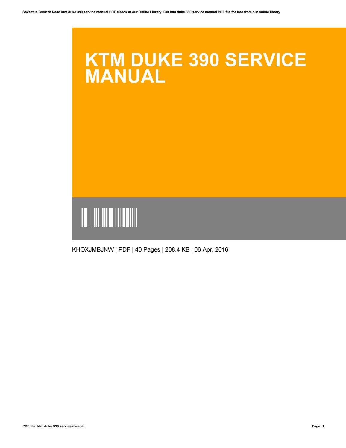 ktm rc 390 service manual pdf