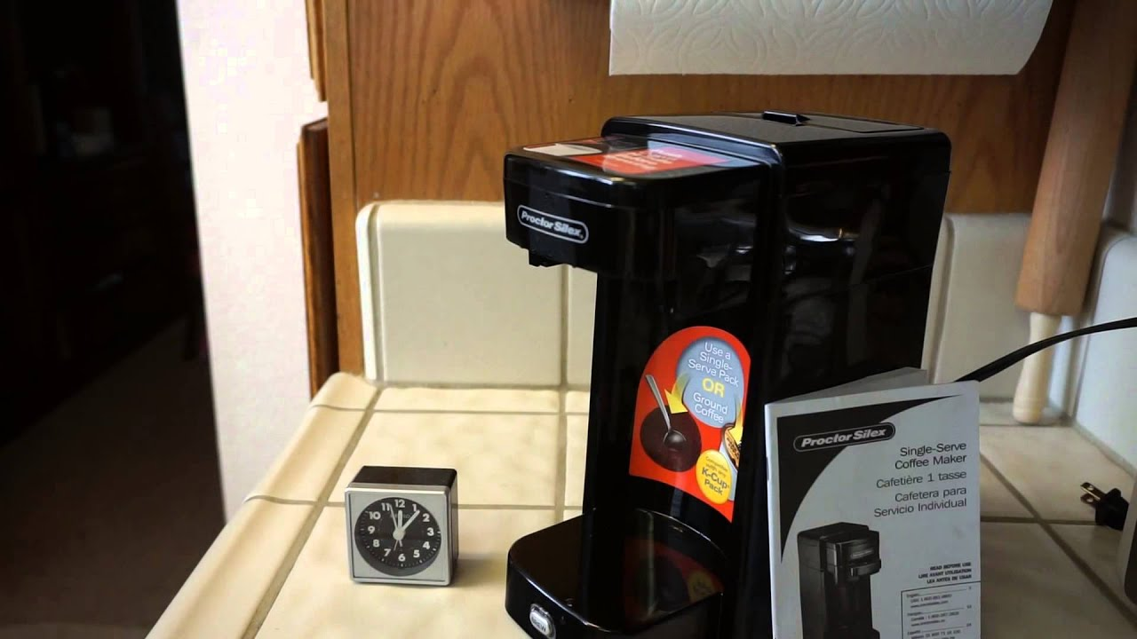 proctor silex single serve coffee maker manual