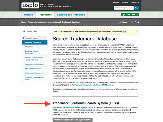 uspto design search code manual